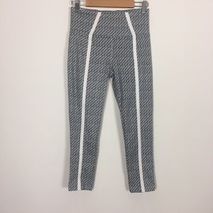 Soybu Grey Patterned Cropped Leggings